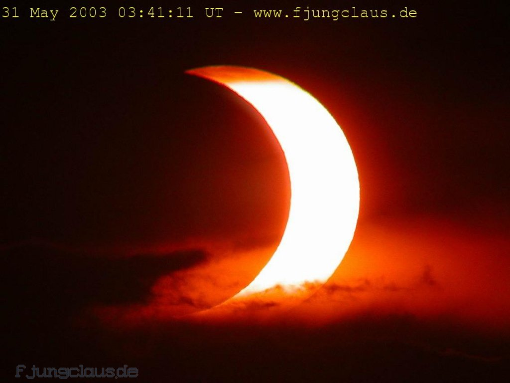Partial Solar Eclipse, May 2003