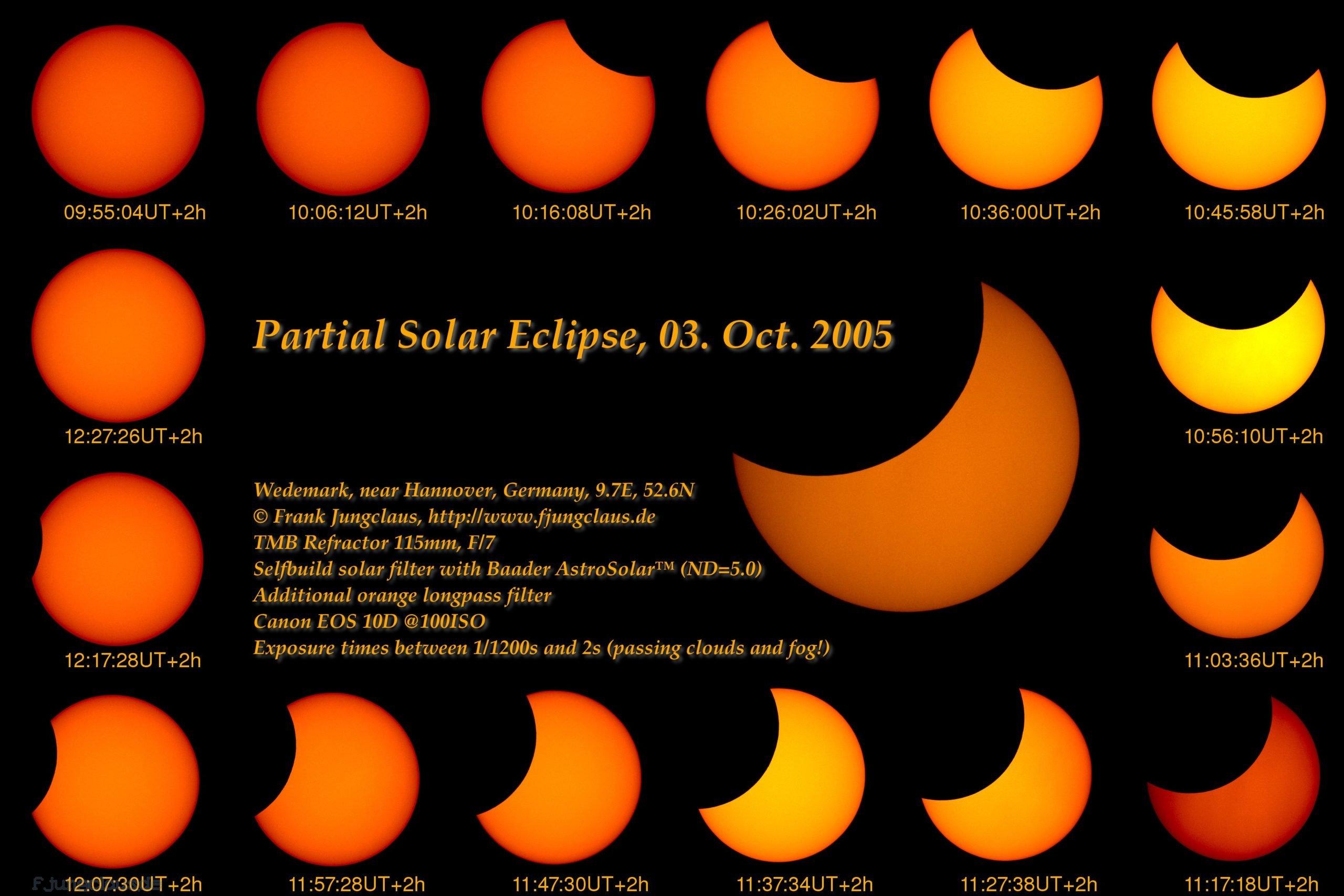 Partial Solar Eclipse, Oct 2005